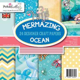 Mermazing Ocean 6x6 Paperpad - Polkadoodles