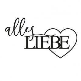 "Stanzschablone ""Alles Liebe #2"" - Mundart Stempel"
