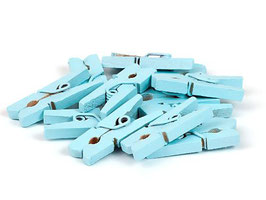 Wooden Clips - Blue