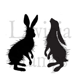 Woodland Hares - Lavinia Stamps