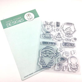 "Clearstampset ""Holiday Friends"" - Gerda Steiner Designs"