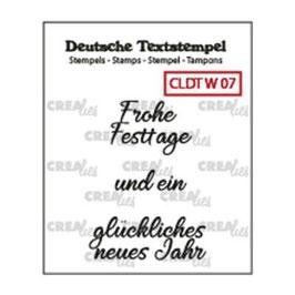 """Clearstamp """"Text #07 Weihnachten"""" - Crealies"""