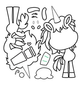 "Stanzschablone ""Cupcake Unicorn"" - C.C.Designs"