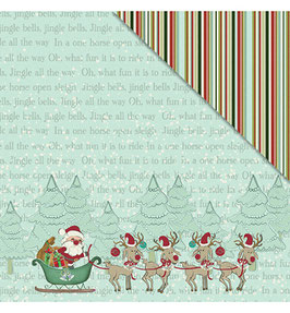 Joy To The World, Santa's Sled - Scrap Paper