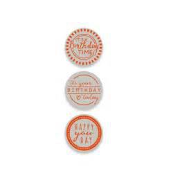 """Essentials """"Rosette Birthday Stamp Set"""" - Tonic Studios"""