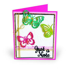 "Prägeschablone & Thinlits Die Set ""Just a Note Butterflies"" - Sizzix"