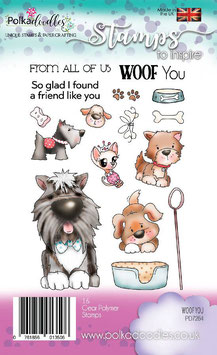 "Clearstamp ""Woof You"" - Polkadoodles"