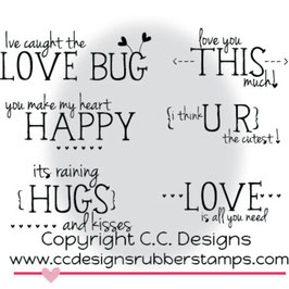 Valentine Sentiments - C.C. Designs