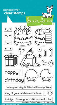 "Clearstampset ""Birthday Before n'Afters"" -  Lawn Fawn"