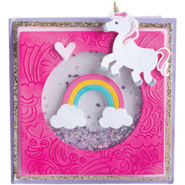 "Prägeschablone & Thinlits Die Set ""Unicorn & Rainbows"" - Sizzix"