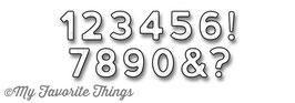 Die-namics Bottlecap Numbers - My Favorite Things