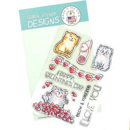"""Clearstampset """"Valentine Cats"""" - Gerda Steiner Designs"""