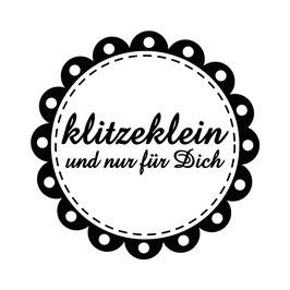 """Holzstempel """"klitzeklein"""""""