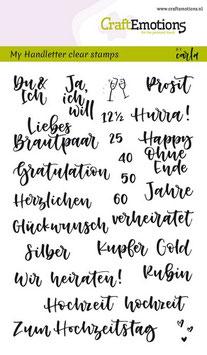 """Clearstampset """"Handletter - Hochzeit"""" - CraftEmotions"""