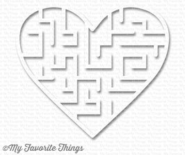 Heart Maze Shapes white - My Favorite Things