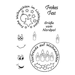 """Clearstamp """"Frohes Fest"""" - EFCO"""