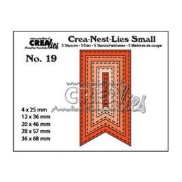 """Stanzschablone """"Fishtail Banner Stitched"""" - Crealies"""