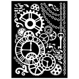 """Schablone """"Steampunk Mechanism"""" - Stamperia"""