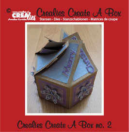 Create A Box, Sechsseitige Box - Crealies