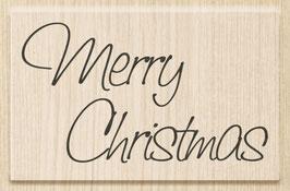 "Holzstempel ""Merry Christmas"""