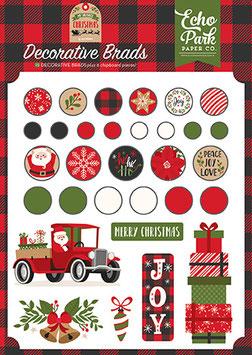 My Favorite Christmas, Decorative Brads - Echo Park