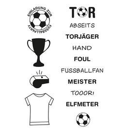 """Clearstamp """"Fußball"""" - EFCO"""