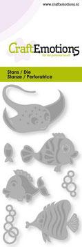 """Stanzschablone """"Tropische Fische"""" - CraftEmotions"""