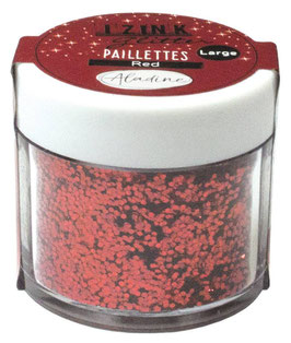 Izink Glitter Pot Red - Aladine
