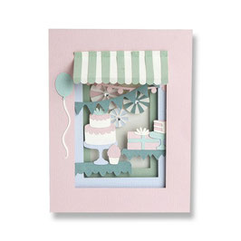 "Thinlits Die Set ""Birthday Shadow Box"" - Sizzix"