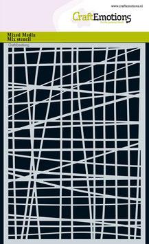 """Schablone """"Linienraster unregelmässig"""" - CraftEmotions"""