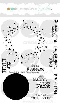 "Stempelset ""Friede, Freude, Lebkuchen"" - Create A Smile"