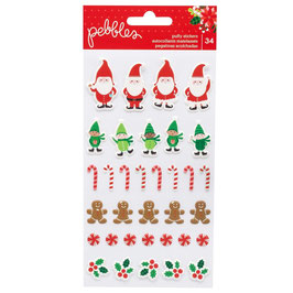 Cozy & Bright Puffy Stickers - Pebbles