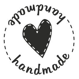 """Holzstempel rund """"Handmade"""""""