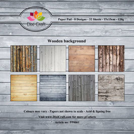"Paper Pack ""Wooden Background"" - Dixi Craft"