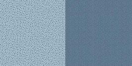 Punkte und Blumen, Schwedenblau - Dini Design