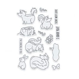 "Clearstampset ""Adorables Scent Wiff Love"" - Tonic Studios"