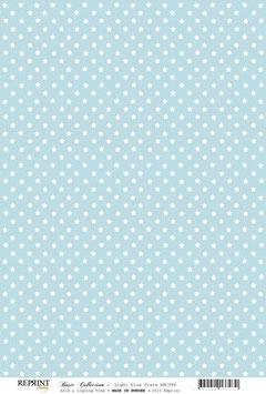Light Blue Stars - Reprint
