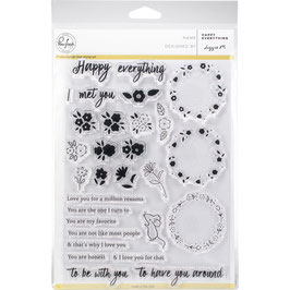 "Clearstampset ""Happy Everything"" - Pinkfresh Studio"