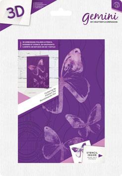 """3D Prägeschablone """"Fluttering By"""" - Gemini"""