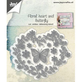"Stanzschablone ""Floral Heart & Butterfly"" - Joy Crafts"