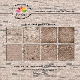 "Paper Pack ""Bricks Background"" - Dixi Craft"