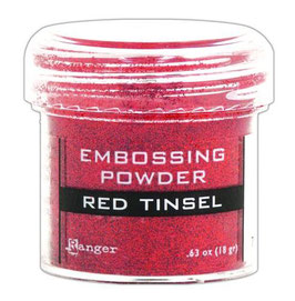 "Embossingpulver ""Red Tinsel"" - Ranger"