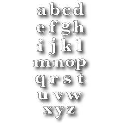 Classic Lower Alphabet - Memory Box