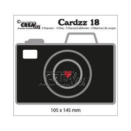 "Stanzschablone ""Cardzz #18 Camera"" - Crealies"