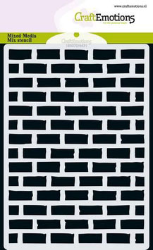"Schablone ""Stone Wall"" - CraftEmotions"