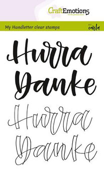 "Clearstamps ""Handletter - Hurra, Danke"" - Craft Emotions"