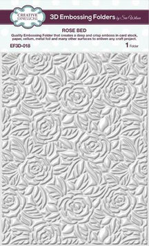 """3D Prägeschablone """"Rose Bed"""" - Creative Expressions"""