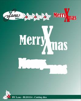 """Stanz- und Prägeschablone """"Merry Xmas"""" - By Lene"""