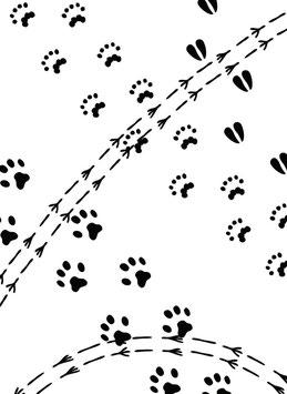 "Prägeschablone ""Animal Tracks"" - Darice"