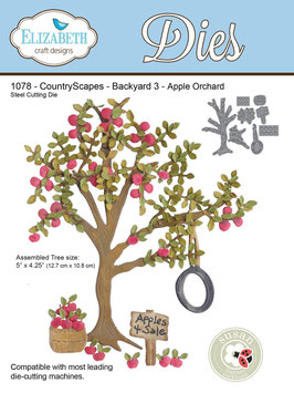 "Stanzschablone ""Country Scapes - Backyard 3"" - Elizabeth Craft Designs"